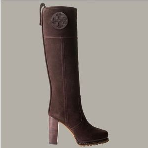 Tory Burch tall brown suede boots size 9.5